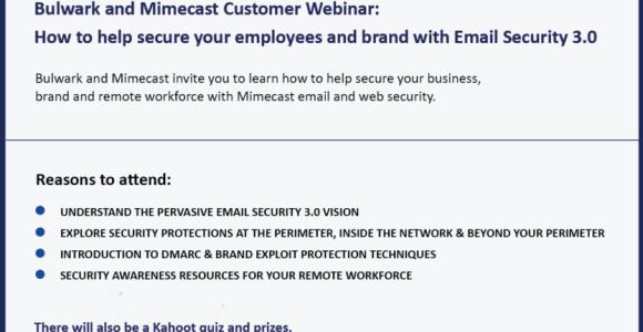 Mimecast End Customer Webinar Invitation – 23rd April 2020